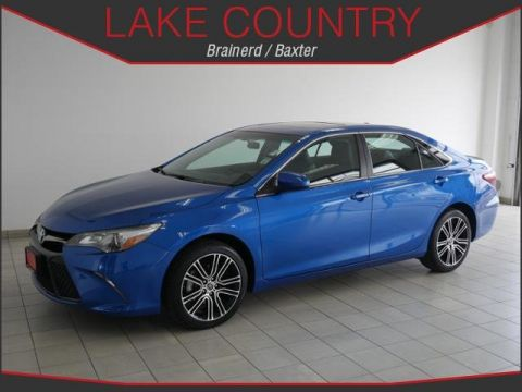 Pre-Owned 2016 Toyota Camry SE Special Edition Blue Streak